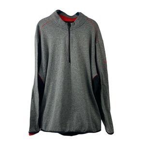 Adidas Clima Heat 1/4 Zip Mock Neck Gray Mens XXL